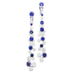 Diamond and Fine Sapphire Earrings by Graff, London