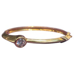 Diamond and Gold Bangle