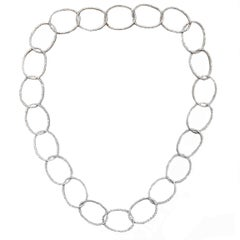 Diamond and Gold Chain Link Necklace