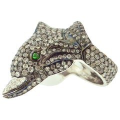 Diamond and Gold Dolphin Ring