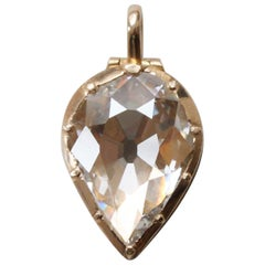 Diamond and Gold Locket Pendant