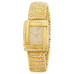 Diamond and Gold Sabi Watch by Henry Dunay
