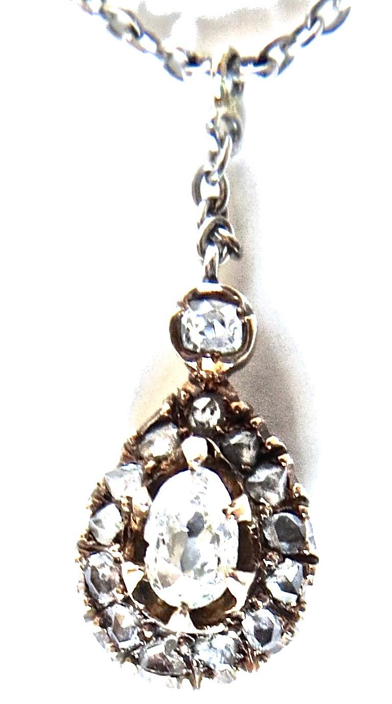 Diamond and Gold Victorian Necklace, circa 1895 In Excellent Condition For Sale In Incline Village, NV