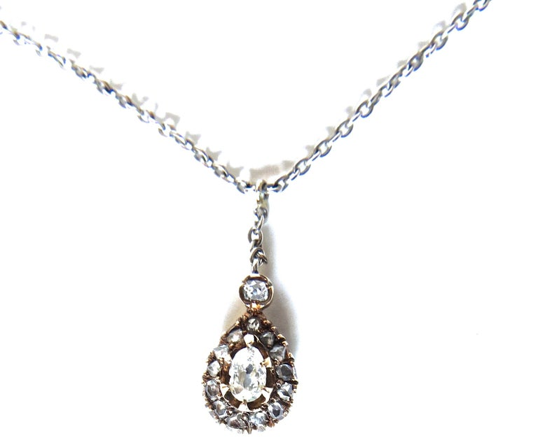 Diamond and Gold Victorian Necklace, circa 1895 For Sale 4