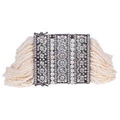 Diamond and Mother of Pearl Bracelet