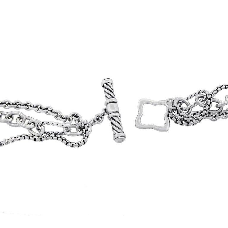 Diamond and Onyx Quatrefoil Multi Strand Necklace In Excellent Condition For Sale In Boca Raton, FL