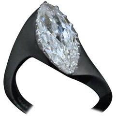 Diamond and Oxidized Platinum Ring