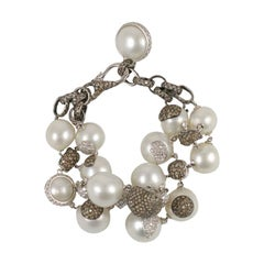 Diamond and Pearl Bracelet