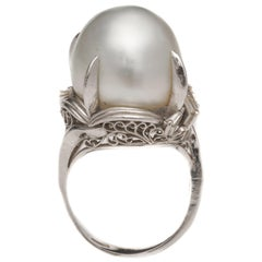 Diamond and Pearl Platinum Cocktail Ring