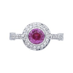 Diamond and Pink Sapphire Gold Cocktail Ring