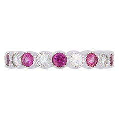 Diamond and Pink Tourmaline Eternity Band
