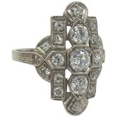 Diamond and Platinum Art Deco Ring, circa 1920