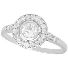 Diamond and Platinum Cluster Ring Antique Circa 1925