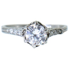 Diamond and Platinum Edwardian Ring, circa 1915
