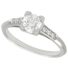 Diamond and Platinum Solitaire Enagement Ring