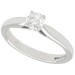 Diamond and Platinum Solitaire Engagement Ring