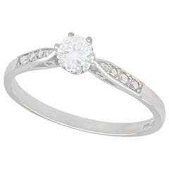 Diamond and Platinum Solitaire Ring, circa 1960 and Contemporary