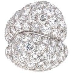Diamond and Platinum Statement Bypass Ring