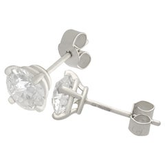 Diamond and Platinum Stud Earrings