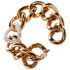 Diamond and Rose Gold Link Bracelet