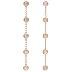 Diamond and Rose Gold Pendant Earrings