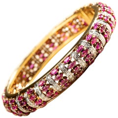 Diamond and Ruby Bracelet in 18 Karat Gold