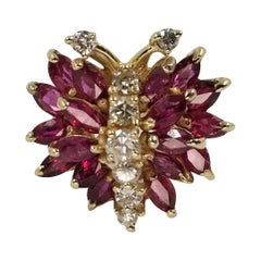 Diamond and Ruby Butterfly Ring