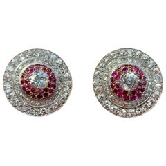 Diamond and Ruby Earclips