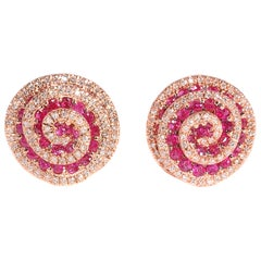 Diamond and Ruby Earrings by EFFY
