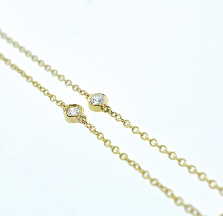 Women's or Men's Diamond and Ruby Long Gold Chain For Sale