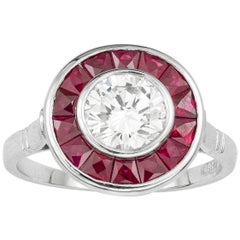 Diamond and Ruby Target Ring