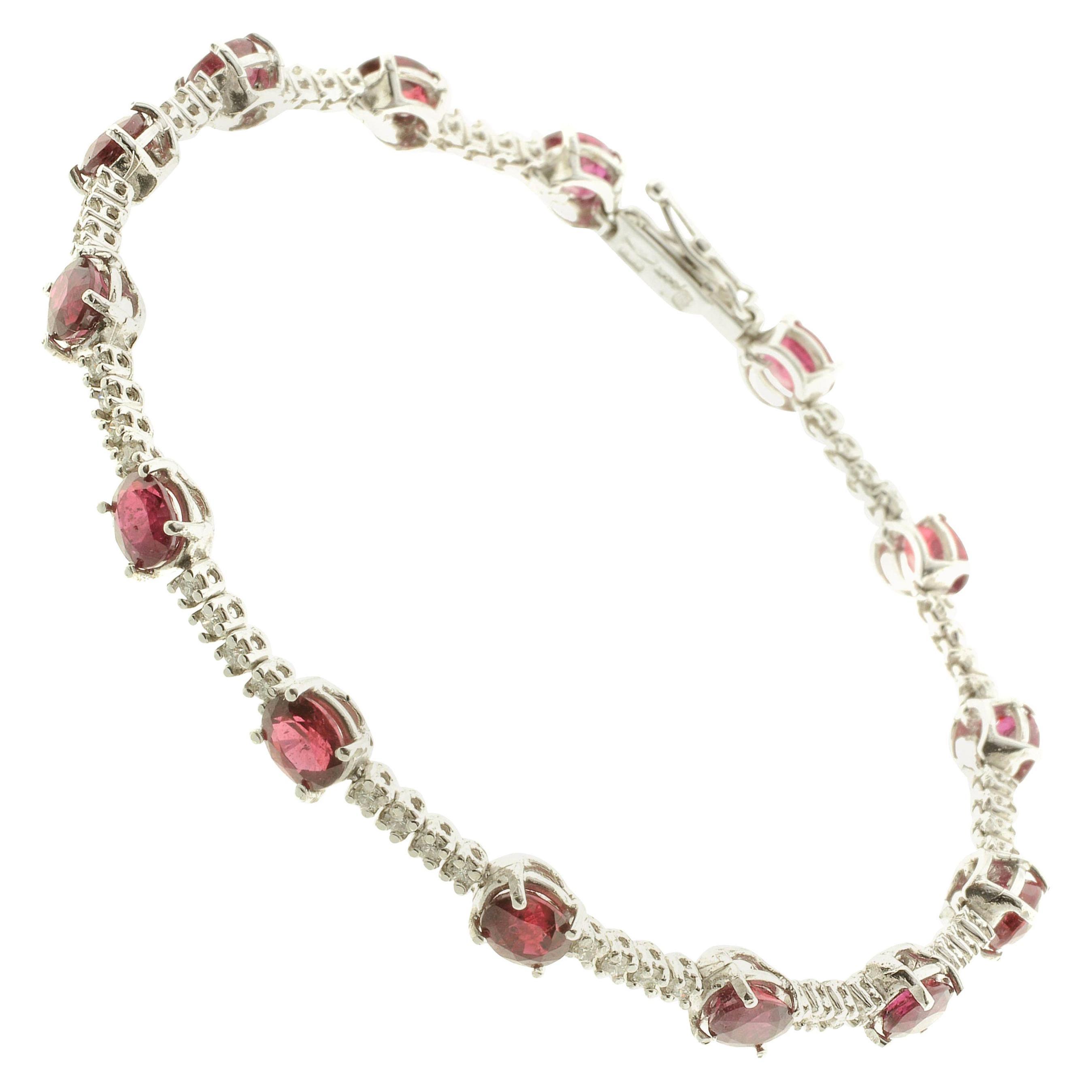 Diamond and Ruby Tennis Bracelet