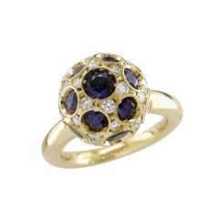 Hammerman Brothers Diamond and Sapphire Ball Ring