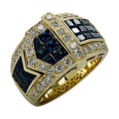 Diamond and Sapphire Belt Ring
