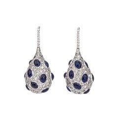 Hammerman Brothers Diamond and Sapphire Drop Earrings