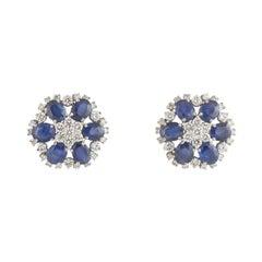 Diamond and Sapphire Earrings