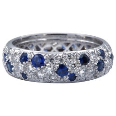 Sasha Primak Diamond and Sapphire Eternity Band Ring