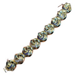 Diamond and Sapphire Gold Bracelet
