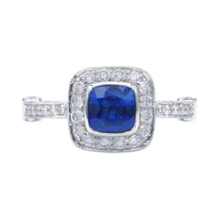 Diamond and Sapphire Gold Cocktail Ring