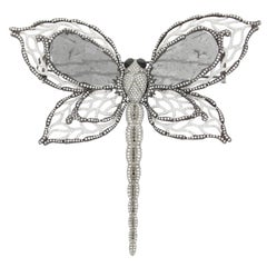 Chatila Diamond and Tiger's Eye Dragonfly Brooch
