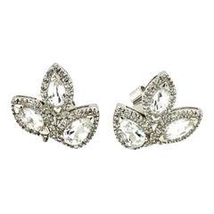 Diamond and Topaz Fashion Stud Earrings