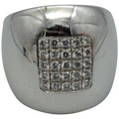 Diamond and White Gold 18 Karat Ring
