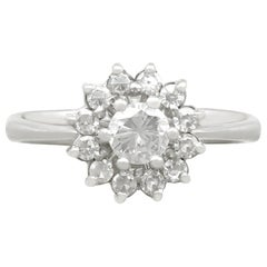 Diamond and White Gold Cocktail Ring, circa 1940