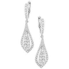 Diamond and White Gold Drop Earrings