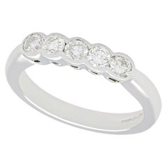 Diamond and White Gold Five-Stone Ring
