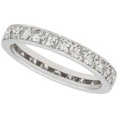 Diamond and White Gold Full Eternity Ring, Antique, circa 1930