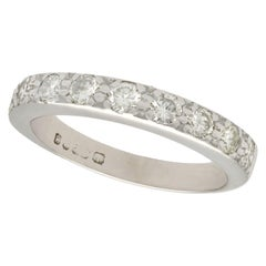 Diamond and White Gold Half Eternity Ring