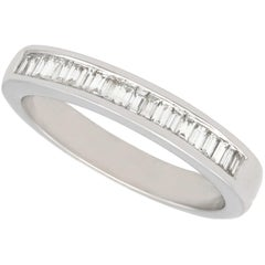Diamond and White Gold Half Eternity Ring