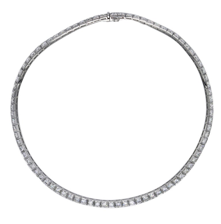 Diamond and White Gold Necklace