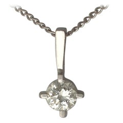 Diamond and White Gold Pendant